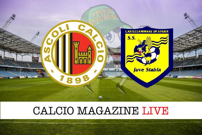 Ascoli Juve Stabia cronaca diretta live risultato in tempo reale