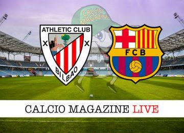 Athletic Bilbao Barcellona cronaca diretta live risultato in tempo reale