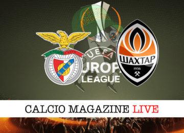 Benfica Shakhtar Donetsk cronaca diretta live risultato in tempo reale