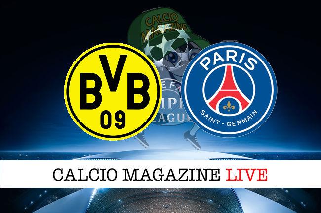 Borussia Dortmund PSG cronaca diretta live risultato in tempo reale