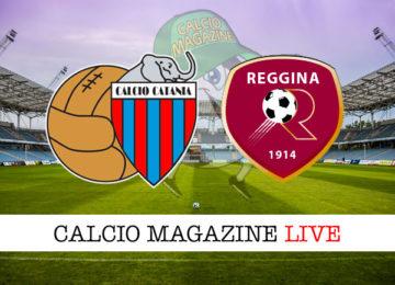 Catania Reggina cronaca diretta live risultato in tempo reale