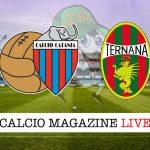 Catania Ternana cronaca diretta live risultato in tempo reale