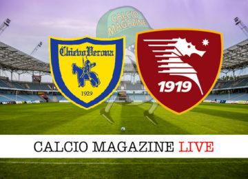 Chievo Salernitana cronaca diretta live risultato in tempo reale