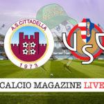 Cittadella Cremonese cronaca diretta live risultato in tempo reale