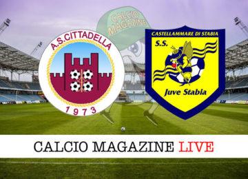 Cittadella Juve Stabia cronaca diretta live risultato in tempo reale
