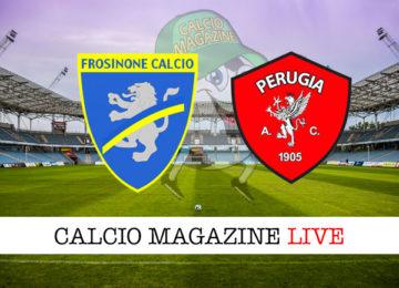 Frosinone Perugia cronaca diretta live risultato in tempo reale