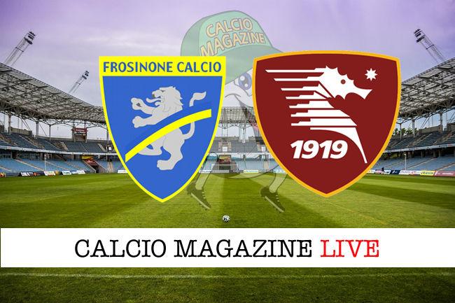 Frosinone Salernitana cronaca diretta live risultato in tempo reale