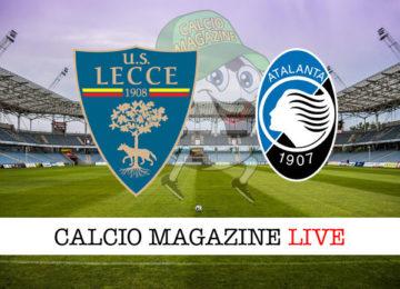 Lecce Atalanta cronaca diretta live risultato in tempo reale