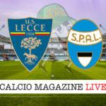 Lecce Spal cronaca diretta live risultato in tempo reale