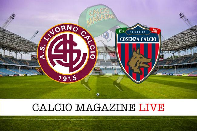 Livorno Cosenza cronaca diretta live risultato in tempo reale