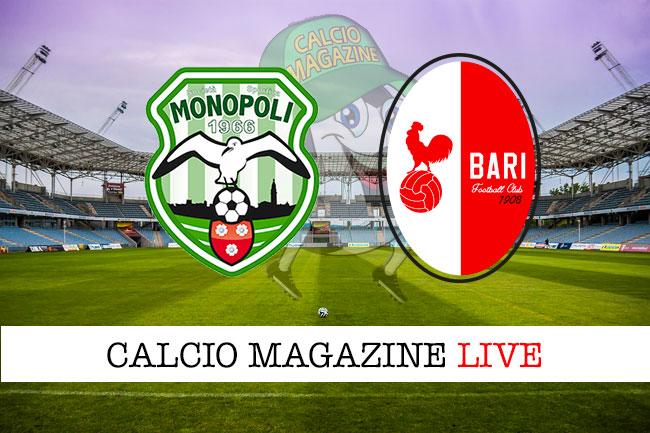 Monopoli Bari cronaca diretta live risultato in tempo reale