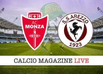 Monza Arezzo cronaca diretta live risultato in tempo reale