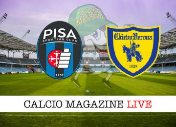 Pisa Chievo Verona cronaca diretta live risultato in tempo reale