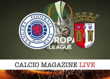Rangers Braga cronaca diretta live risultato in tempo reale