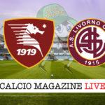 Salernitana Livorno cronaca diretta live risultato in tempo reale