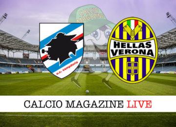Sampdoria Hellas Verona cronaca diretta live risultato in tempo reale