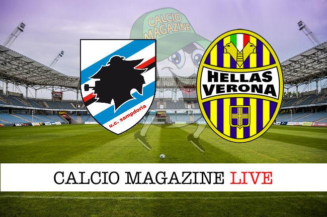 Sampdoria - Hellas Verona, le formazioni ufficiali del match dalle ore 14.15