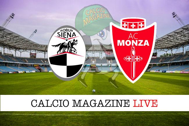 Siena Monza cronaca diretta live risultato in tempo reale