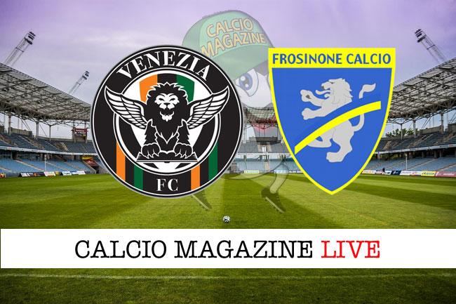 Venezia Frosinone cronaca diretta live risultato in tempo reale