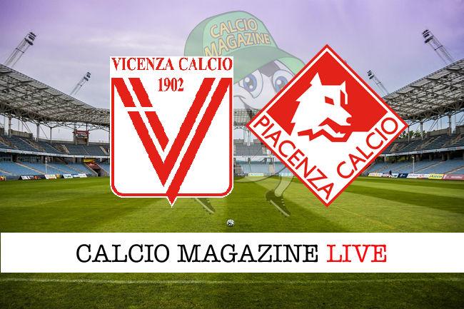 Vicenza Piacenza cronaca diretta live risultato in tempo reale