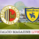 Ascoli Chievo Verona cronaca diretta live risultato in tempo reale