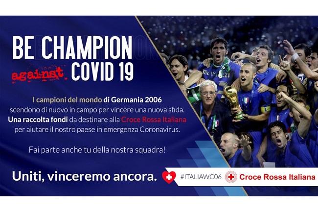 Coronavirus, i Campioni del Mondo 2006 in campo per una nuova sfida