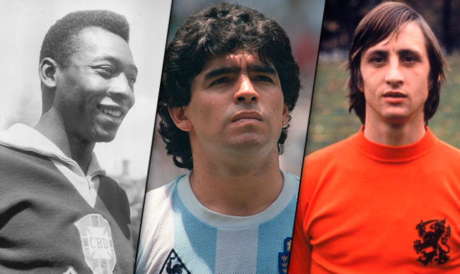 Maradona-Pelè-Crujff