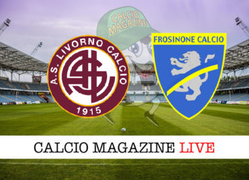 Livorno Frosinone cronaca diretta live risultato in tempo reale