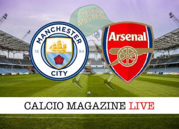 Manchester City Arsenal cronaca diretta live risultato in tempo reale