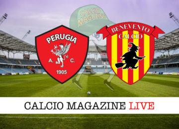 Perugia Benevento cronaca diretta live risultato in tempo reale