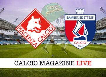 Piacenza Sambenedettese cronaca diretta live risultato in tempo reale