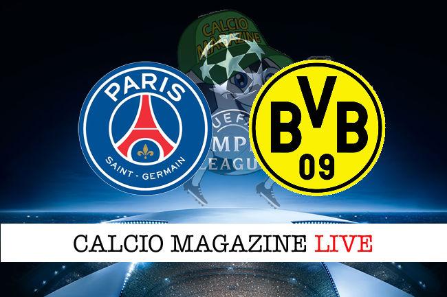 PSG Borussia Dortmund cronaca diretta live risultato in tempo reale