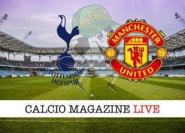 Tottenham Manchester United cronaca diretta live risultato in tempo reale