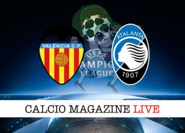 Valencia Atalanta cronaca diretta live risultato in tempo reale