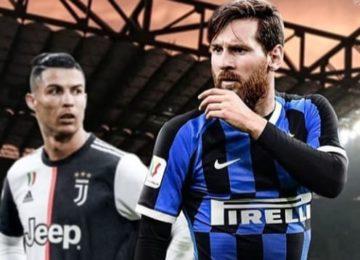 Messi e Ronaldo da urlo: Inter e Juventus pareggiano 2-2!