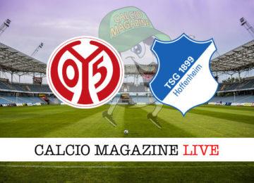 Mainz Hoffenheim cronaca diretta live risultato in tempo reale