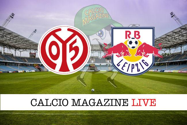 Mainz 05 Lipsia cronaca diretta live risultato in tempo reale