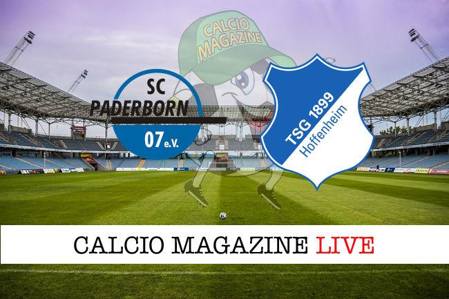 Paderborn Hoffenheim cronaca diretta live risultato in tempo reale