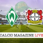 Werder Brema Bayer Leverkusen cronaca diretta live risultato in tempo reale