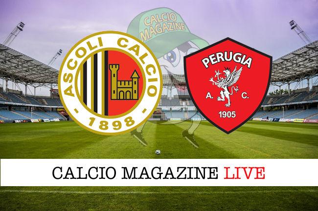 Ascoli Perugia cronaca diretta live risultato in tempo reale