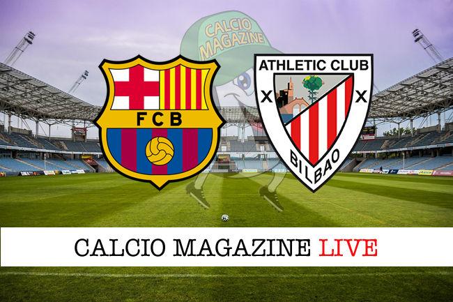 Barcellona Athletic Bilbao cronaca diretta live risultato in tempo reale