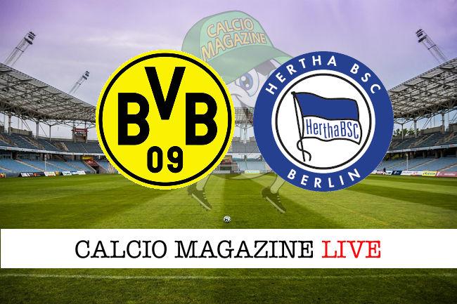 Borussia Dortmund Herta Berlino cronaca diretta live risultato in tempo reale