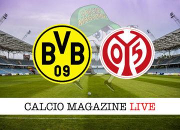 Borussia Dortmund Mainz cronaca diretta live risultato in tempo reale
