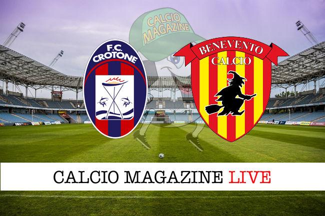 Crotone Benevento cronaca diretta live risultato in tempo reale