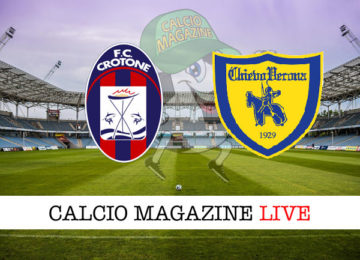Crotone Chievo cronaca diretta live risultato in tempo reale