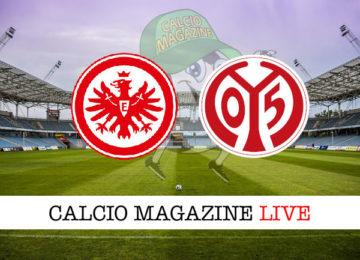 Eintracht Francoforte Mainz cronaca diretta live risultato in tempo reale