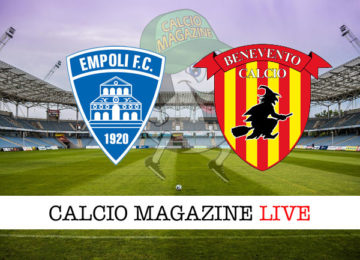 Empoli Benevento cronaca diretta live risultato in tempo reale