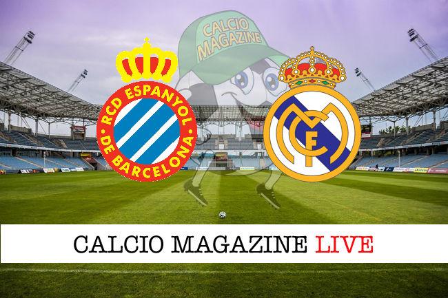 Espanyol Real Madrid cronaca diretta live risultato in tempo reale