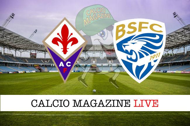 Fiorentina Brescia cronaca diretta live risultato in tempo reale
