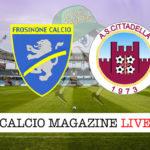 Frosinone Cittadella cronaca diretta live risultato in tempo reale